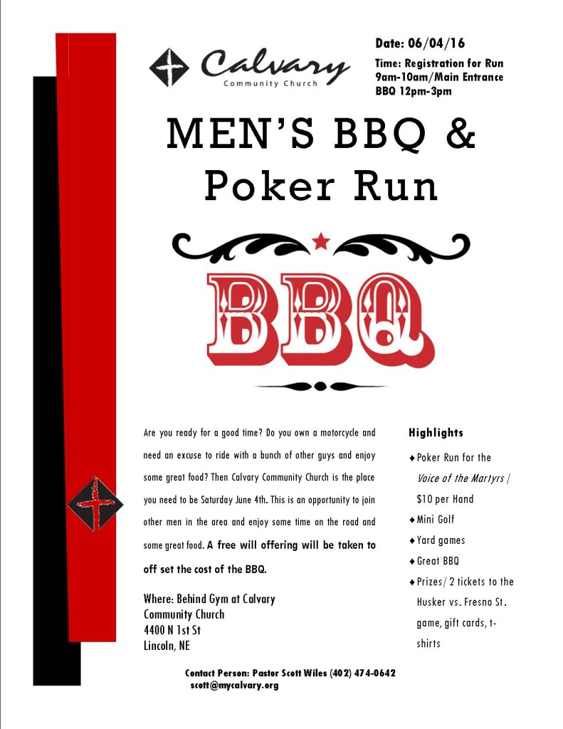 BBQ and Run Poster  2016